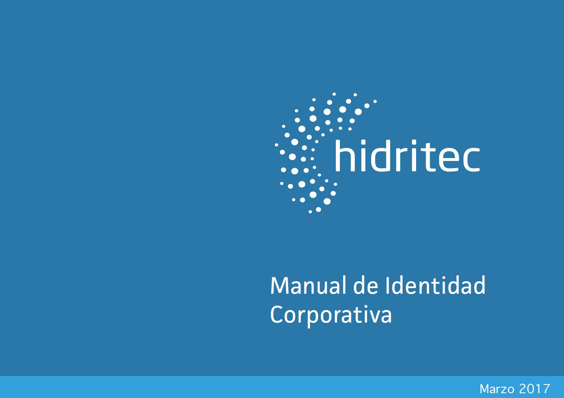 Portada Manual Identidad Hidritec